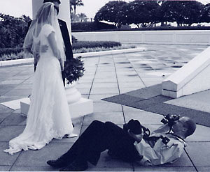 Photographer Dan hits the ground for the bride