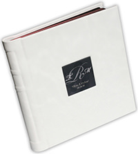 acrylic monogram window wedding album